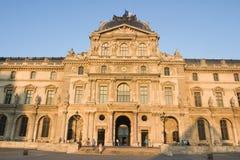 Louvre museum main building - France - Paris. Louvre museum main building view at sunset - France - Paris royalty free stock image