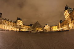 Louvre Museum and market square Royalty Free Stock Photography