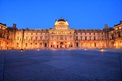 Louvre Museum at Night, Paris Stock Photo