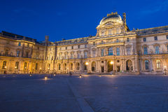 Louvre Museum at night in Paris, France Stock Photos