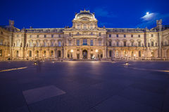 Louvre Museum at night in Paris, France Royalty Free Stock Photos