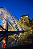 Louvre Museum by Night Royalty Free Stock Images