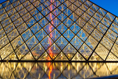 Louvre Museum by Night Royalty Free Stock Photography