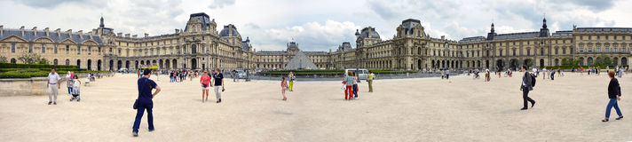 Louvre museum. Panoramic view of Louvre museum Stock Images