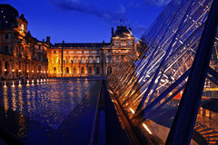 Louvre Museum in Paris Stock Images