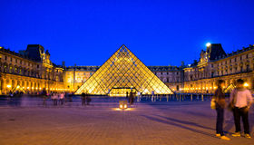 Louvre Museum in Paris Stock Photos