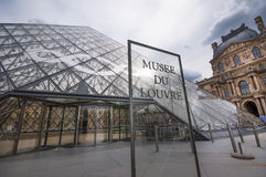 The Louvre Museum in Paris Royalty Free Stock Images