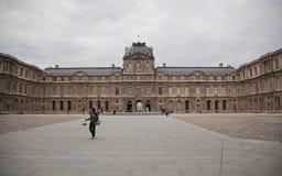 Louvre museum in Paris. Entry of Louvre museum in Paris Stock Photo
