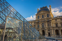 Louvre Museum in Paris Stock Photos