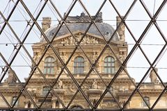 Louvre Museum in Paris, France Stock Photos