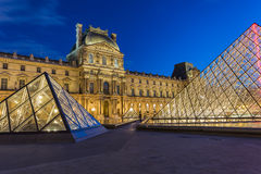 Louvre Museum in Paris, France Stock Image