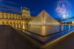 Louvre Museum in Paris, France Royalty Free Stock Images