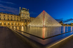 Louvre Museum in Paris, France Royalty Free Stock Photo