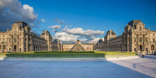 Louvre Museum in Paris, France. Paris, France - May 15, 2014 : The Louvre or the Louvre Museum is one of the world's largest museums and a historic monument Stock Photo