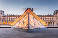 Louvre Museum in Paris, France. Paris, France - May 13, 2014: The Louvre Museum is one of the world's largest museums and a historic monument. A central Royalty Free Stock Images