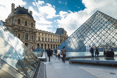 Louvre Museum in Paris,France. Stock Images