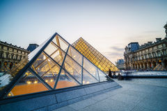 Louvre Museum in Paris, France. Stock Photos