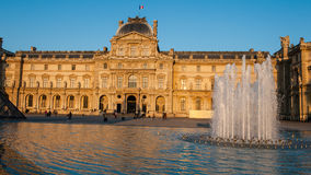 Louvre Museum in Paris, France. The Louvre Museum is one of the world`s largest museums and a historic monument. A central landmark of Paris, France Royalty Free Stock Photos