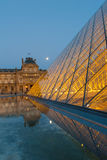 Louvre Museum in Paris, France. The Louvre Museum is one of the world`s largest museums and a historic monument. A central landmark of Paris, France Royalty Free Stock Image