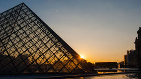 Louvre Museum in Paris, France. The Louvre Museum is one of the world`s largest museums and a historic monument. A central landmark of Paris, France Royalty Free Stock Photography