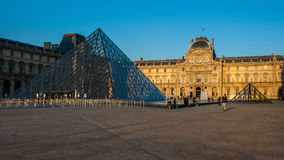 Louvre Museum in Paris, France. The Louvre Museum is one of the world`s largest museums and a historic monument. A central landmark of Paris, France Stock Photography