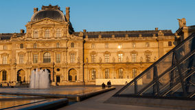 Louvre Museum in Paris, France. The Louvre Museum is one of the world`s largest museums and a historic monument. A central landmark of Paris, France Stock Image