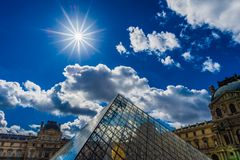 Louvre Museum in Paris, France stock photography