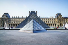 Louvre Museum in Paris, France. Stock Image