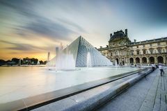 Louvre Museum in Paris, France. Very high resolution, 42.2 megapixels Royalty Free Stock Photography