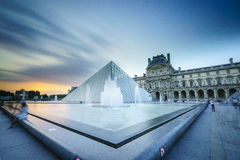 Louvre Museum in Paris, France. Very high resolution, 42.2 megapixels Stock Images
