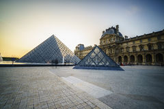 Louvre Museum in Paris, France. Royalty Free Stock Images