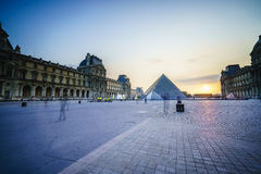 Louvre Museum in Paris, France. Very high resolution, 42.2 megapixels Stock Photography