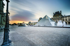 Louvre Museum in Paris, France. Royalty Free Stock Photos