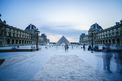 Louvre Museum in Paris, France. Royalty Free Stock Image