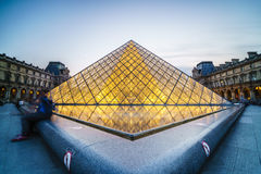 Louvre Museum in Paris, France. Very high resolution, 42.2 megapixels Royalty Free Stock Images
