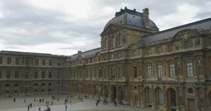 Louvre Museum in Paris, France stock footage