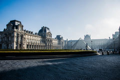 The Louvre museum in paris Stock Photo