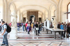 At the Louvre Museum Royalty Free Stock Photos