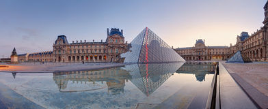 Louvre Museum in Paris at sunrise, France Stock Images