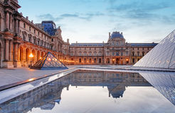 Louvre Museum in Paris at sunrise, France Royalty Free Stock Photography