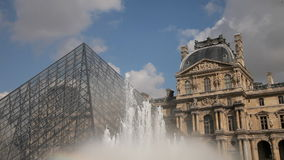 Louvre Museum, Paris video stock video footage