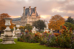 Louvre Museum, Paris. View of the Louvre Museum from Jardin de Tuileries Stock Photos