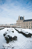 Louvre museum in Paris by winter Stock Images