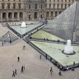Louvre Museum Plaza Stock Photos