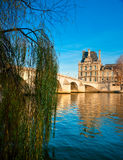 Louvre Museum and Pont Royal, Paris - France Royalty Free Stock Image