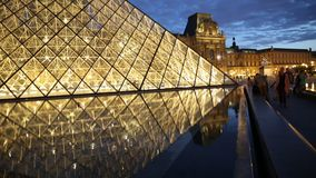 Louvre Museum pool