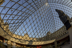 Louvre Museum through the Pyramid Stock Image
