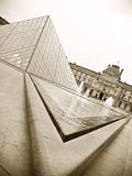 Louvre museum and Pyramid Royalty Free Stock Photo