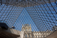 Louvre Museum Pyramid Royalty Free Stock Images