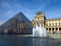 Louvre Museum Pyramid #1 Royalty Free Stock Image